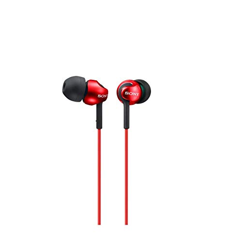 Sony MDR-EX110LP - Auriculares in-ear, color rojo