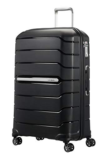 Samsonite Flux Spinner L Maleta Expansible, 75 cm, 111 L, Negro (Black)
