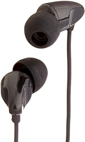 Amazon Basics - Auriculares in-ear con micrófono universal, color negro