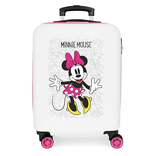Disney Minnie Enjoy the Day Maleta de cabina Blanco 40x55x20 cms Rígida ABS Cierre...