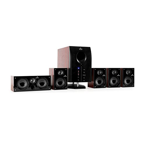 auna Areal 525 WD Sistema Sonido Envolvente 5.1 - Home Cinema Surround , 125W RMS ,...