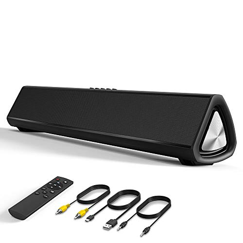 Barra de Sonido para TV, con Cable Inalámbrico Bluetooth, Altavoz Home Theater para...