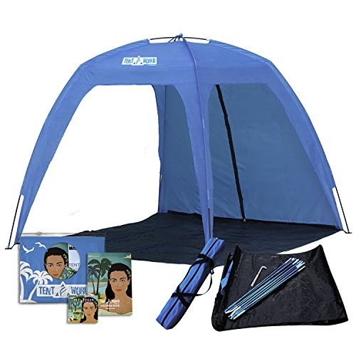 Thermalabs Larga Carpa de Playa 'Neptune' para 6 Personas. 1,77x1,77 m Anti Rayos...