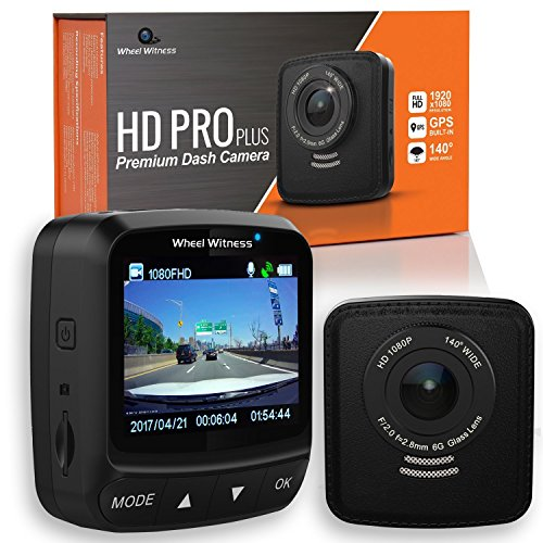 WheelWitness HD Pro Plus Premium Dash CAM w/WiFi & GPS, iPhone Android Compatible, 2K...