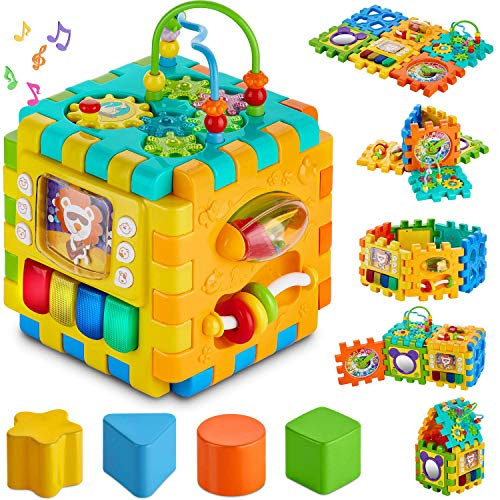 Baby Activity Cube - 6-in-1 Multi-Assembly Activity Square for Babies 10m + - Cubo de...