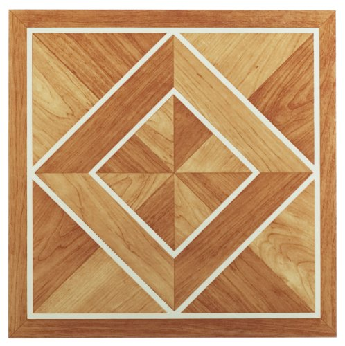 Achim Home Furnishings FTVWD20520 Nexus 12-Inch Vinyl Tile, Wood White Border Classic...