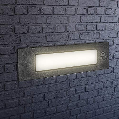 Lámpara de pared LED empotrable para exterior, IP55, para paredes, caminos,...