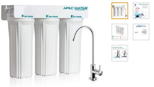 APEC wfs-1000 Super capacidad Premium calidad 3 Fase para debajo de lavabo sistema de filtro de agua