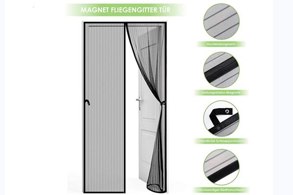 Cortina Mosquitera Magnética para Puertas