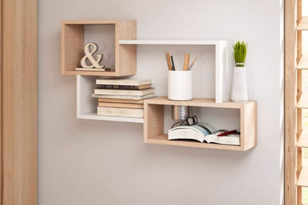 Selsey Estante de Pared para Libros