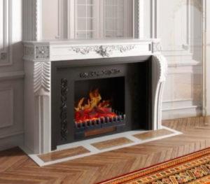 Chimenea decorativa con efecto de llamas