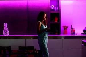 tiras de luz inteligentes en casa