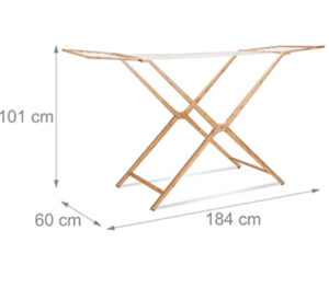 Tendedero Plegable para Ropa Bambu