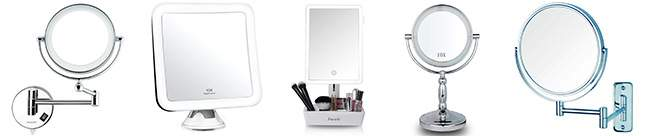 Los mejores espejos de maquillajes iluminados con aumento, de pared y para el baño