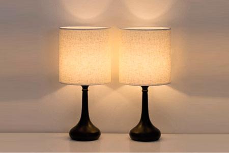 Lámpara de Mesita de Noche Vintage HAITRAL