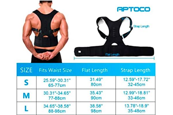 opiniones Aptoco Corrector de postura magnético ajustable para la espalda y los hombros
