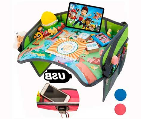 Mesa de juego de viaje en coche para niños