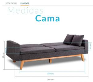 Sofá Cama 3 plazas Reine