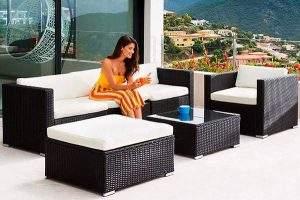 Mejores Conjunto de Muebles de jardín de ratán