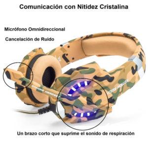 Auriculares Gaming Estéreo Con Micrófono