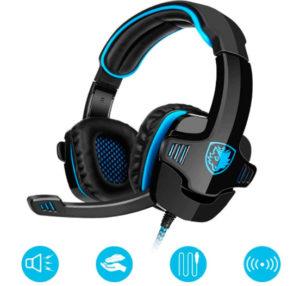 GHB Sades Auriculares Gaming Cascos con Microfono SA-901 Sonido Envolvente