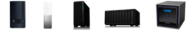 Dispositivos de almacenamiento de servidor de Red