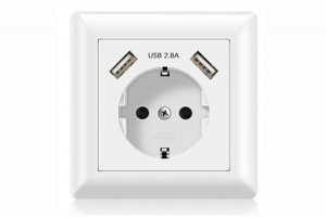 Enchufes de pared con USB
