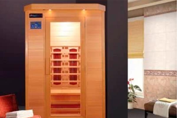 Sauna de infrarrojos 120x115 dos personas con Cromoterapia y doble panel de control