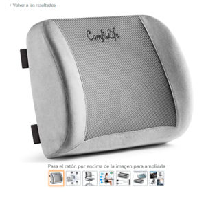 Cojín lumbar ComfiLife para silla de oficina y asiento de coche