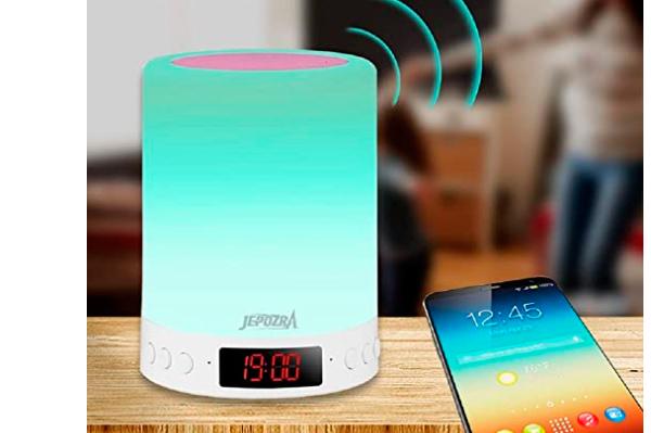 Lámpara de mesa con altavoz Bluetooth