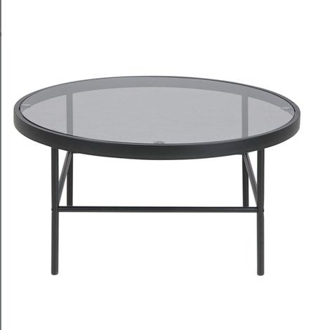 Mesa de cristal redonda amazon