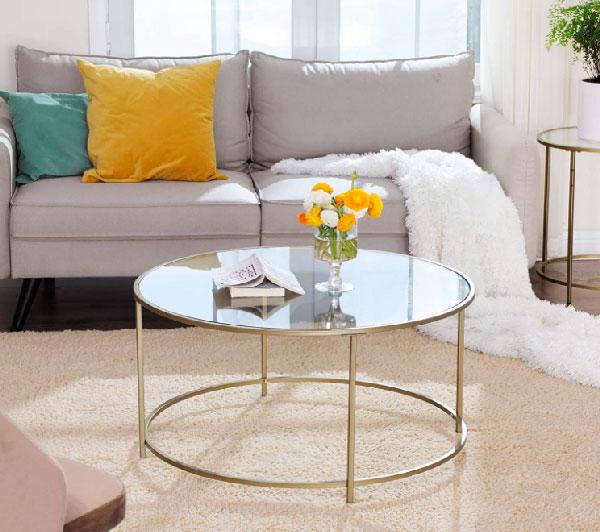 Mesa de cristal redonda comedor