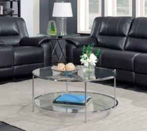 Mesa de cristal redonda para comedor