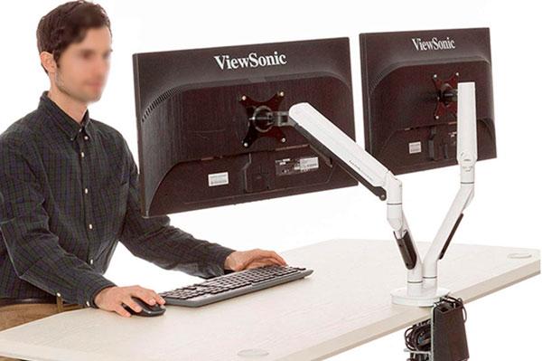 Soporte de monitor dos monitores Loctek