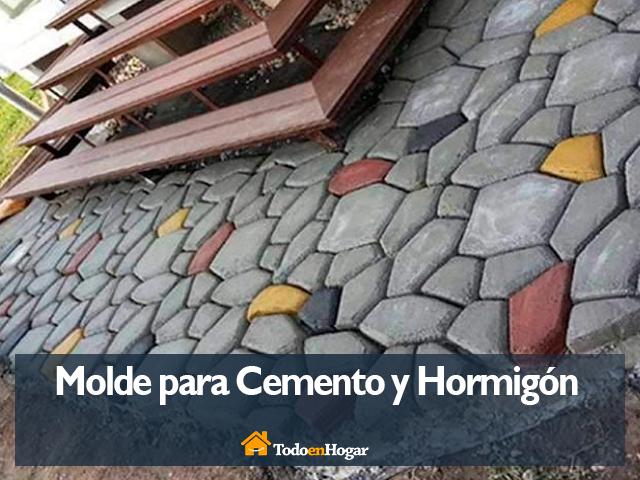 Molde de cemento para piedras de pavimento
