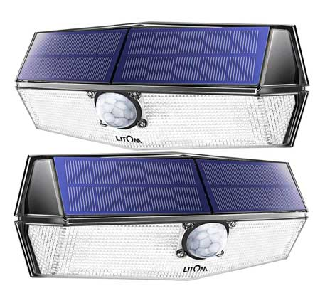 Focos led solar de exterior con Sensor de Movimiento LITOM
